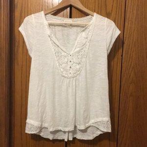 Anthropology cream blouse